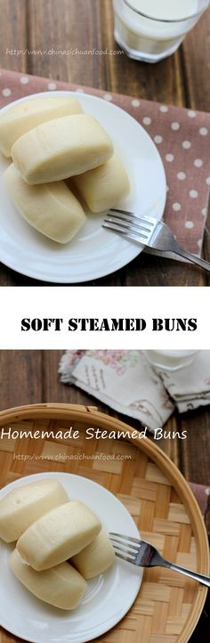 Basic Chinese Steamed Buns using instant yeast, making 12 mini buns. I Love Food, Good Food, Yummy Food, Steam Recipes, Steamed Buns, Steamed Cake, Bread And Pastries, Asian Cooking, Asian Recipes
