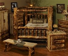 Etonnant U0027Beartooth Passu0027 Aspen Canopy Bed   The Log Furniture Store