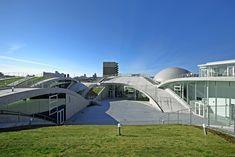 undulating science hills in komatsu by urban architecture office - designboom   architecture