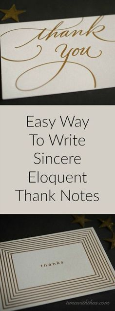Easy Way To Write Sincere Eloquent Thank You Notes ~ Make writing thank you notes fun and super easy using a writing pattern and sentence starter ideas! / timewiththea.com