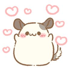 This is Chinchilla Haruma's sticker. Haruma is very cute boy. This is Chinchilla Haruma's st Cute Little Drawings, Cute Kawaii Drawings, Cute Animal Drawings, Kawaii Art, Chinchilla Pet, Cute Sketches, Dibujos Cute, Cute Doodles, Kawaii Wallpaper