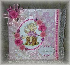 handmade card, Hobby House, celebrating a birthday in Pink