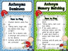 Opposites Attract~ Antonym Center Activities {FREEBIE}