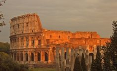 """""""Rome's Colosseum in the light of a setting sun."""" (From: 25 Beautiful Photos of Rome)"""