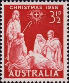 Stamp: Adoration of Christ (Australia) (Christmas Mi:AU 306 Christmas And New Year, Christmas Time, The Birth Of Christ, Twelfth Night, Australia, Stamp Collecting, Yule, Postage Stamps, Nativity