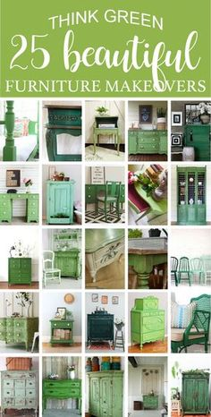 25 Beautiful Think Green Furniture Makeovers Roundup 24 Easy DIY Furniture Makeovers DIY Show Off Thrift Store Furniture, Old Furniture, Refurbished Furniture, Repurposed Furniture, Shabby Chic Furniture, Furniture Projects, Rustic Furniture, Furniture Makeover, Vintage Furniture