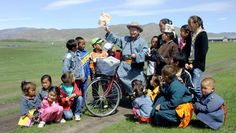 © Radio Bremen/Bernd Meiners  Bicycle librarian of Mongolia