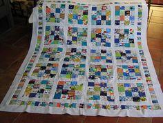 Decken - Neu!! Besonders aufwändige Patchworkarbeit - ein Designerstück von meine-bunte-flickenecke bei DaWanda