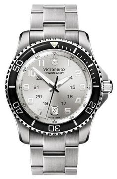 Victorinox Swiss Army Men's Silver Dial Watch