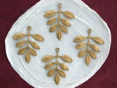 Raw Brass Stampings Leaf Stampings Leaf Charms by BeachCastleBeads