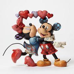 Mickey and Minnie with Hearts Figurine