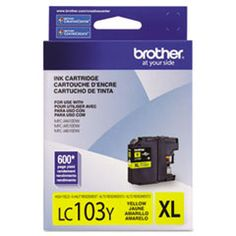 Brother LC-103Y Yellow, High Yield Ink Cartridges - Databazaar.com