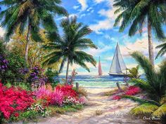 Shop for ship art from the world's greatest living artists. All ship artwork ships within 48 hours and includes a money-back guarantee. Choose your favorite ship designs and purchase them as wall art, home decor, phone cases, tote bags, and more! Palm Tree Art, Palm Trees, Carolina Do Norte, Wall Art Prints, Fine Art Prints, Dolphin Art, Autumn Lake, Beach Wall Decor, Sunset Art