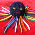 TUTO tricot tricotin : Doudou pieuvre - En direct de la fabrique de crevettes