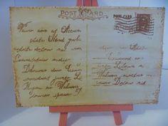 Invitation for Tea Party- Vintage Postcard