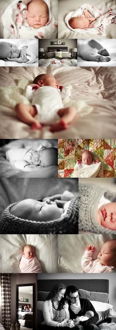 Newborn lifestyle photography - naturally styled newborn photos