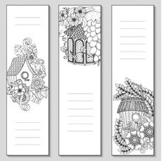 Bookmark Template, Bookmark Craft, Diy Bookmarks, Adult Coloring Book Pages, Colouring Pages, Coloring Books, Watercolor Flower Background, Watercolor Bookmarks, 257