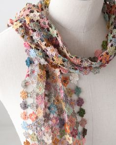 *Sophie Digard 2013SS VIRGINIA SMALL LINEN SCARF スカーフ (NRGC マルチカラー) - LILI et NENE Official