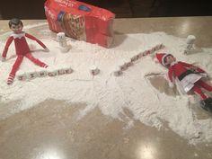 Elf on the Shelf ideas...Snow my goodness!!