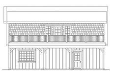 Craftsman Plan: 838 Square Feet, 1 Bathroom - 035-00857 Garage Building Plans, Building A Shed Roof, Garage Plans With Loft, Basement Plans, Small Cottage House Plans, Barn House Plans, Tiny House Plans, Garage Apartment Plans, Garage Apartments