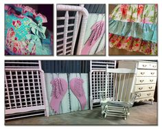 Painted furniture for a nursery by A to Z Custom Creations