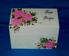 Personalized Recipe Box Wood Recipe Card Box Wooden Recipe