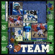 1st Football Team - Scrapbook.com