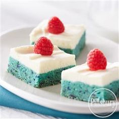 Red, White and Blue Raspberry Bars from Pillsbury� Baking