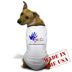Peace Fund Dog T-Shirt. Buy this great item today from our Merchandise range and help a child tomorrow. www.thepeacefund.org