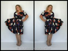 Lady V London Lady Voluptuous Phoebe Dress review: http://www.curvywordy.com/2015/06/lady-v-london-lady-voluptuous-pink-rose.html