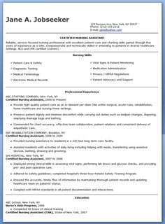 free sample certified nursing assistant resume - Nurse Assistant Resume
