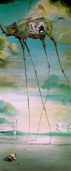 Celestial Ride (1957) by Salvador Dali. Género Símbólico. Período Clásico. Estilo Subrrealismo