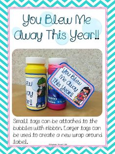 Free bubble tags! End of the year class gift.