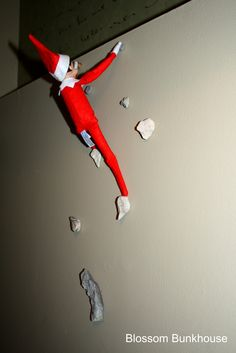 Rock Wall: Use glue dots to hold rocks and elf in place.