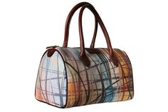 Coloured Stripes Genuine Leather Bag by ArtofWeaving on Etsy, $279.00
