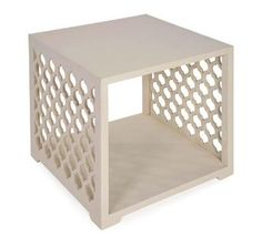 Create a mod look with great storage with the O'Reilly Cube Side Table.