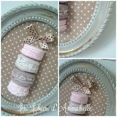 Cadre  Shabby Chic de macarons en plâtre