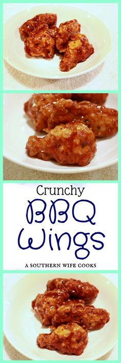 Get the recipe for these easy, crunchy sticky bbq wings! Perfect for game night! Bone In Chicken Recipes, Bbq Wings, Sunday Funday, Game Night, Food Hacks, Main Dishes, Food And Drink, Faith, Beef