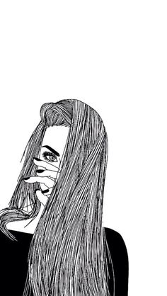 Girl, drawing, and black and white image drawings dibujos de chicas, dibujo Tumblr Outline, Outline Images, Outline Drawings, Cool Drawings, Drawing Sketches, Tumblr Girl Drawing, Tumblr Drawings, Tumblr Art, Hipster Girl Drawing