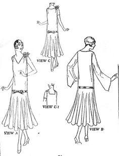 Vintage 1920s Dress Pattern BUTTERICK 6387