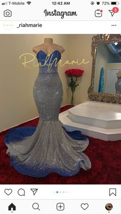 Riah Marie Designs LLC on Ice princess in royal blue and silver Tap photo for product info. Black Girl Prom Dresses, Senior Prom Dresses, Gorgeous Prom Dresses, Cute Prom Dresses, Prom Outfits, Mermaid Prom Dresses, Formal Dresses, Mermaid Evening Gown, Formal Prom