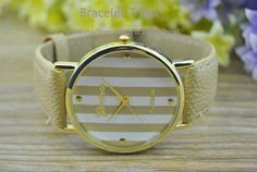 Light Brown leather bracelet watch women's wrist by BraceletTribal, $5.99 Fashion handmade leather jewelry
