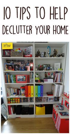Before and after photos of me decluttering my home!