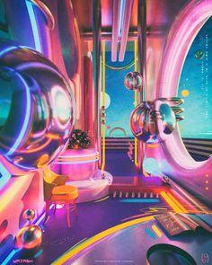 Retro Futurism Art, New Retro Wave, Neon Aesthetic, Aesthetic Space, Aesthetic Collage, White Aesthetic, Futuristic Art, Retro Art, Graphic