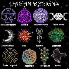 Pagan symbols-- although the first one is a pentacle, not a pentagram. Wicca Witchcraft, Pagan Witch, Witches, Magick Spells, Religion Wicca, Pagan Beliefs, Symbole Viking, Pagan Symbols, Viking Symbols