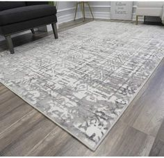 CosmoLiving by Cosmopolitan Laurel Power Loom Polyester White/Gray Indoor Area Rug Rug Size: Rectangle Light Blue Area Rug, White Area Rug, Beige Area Rugs, Grey And White Rug, Gray, 8x10 Area Rugs, Natural Area Rugs, Cream Area Rug, Indoor Outdoor Area Rugs