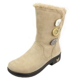 Alegria Sand Suede Boot - now on Closeout! | Alegria Shoe Shop #AlegriaShoes #sale #closeouts #AlegriaBoots #boots