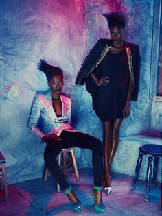 'La Vie en Roe' (Portugal) - Photography: Frederico Martins// Styling: Filipe Silveira Carriço// Make-up: Atelier Patrícia Lima// Hair: Miguel Viana// Models:  Laura Jicula, Maura Sebastião, Zime Msomi @DaBanda Model Management//