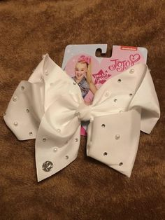 JoJo Siwa AUTHENTIC Pearl & Jewels Bright Large Signature New Release Bow NWT | eBay