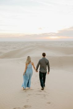 aubrey had a very specific vision in mind for their engagement session and that included sand dunes and a flowy dress. i think she nailed it head on! Couple Photography, Engagement Photography, Engagement Session, Wedding Photography, Winter Engagement Photos, Photo Location, California Wedding, Photoshoot, Sunset